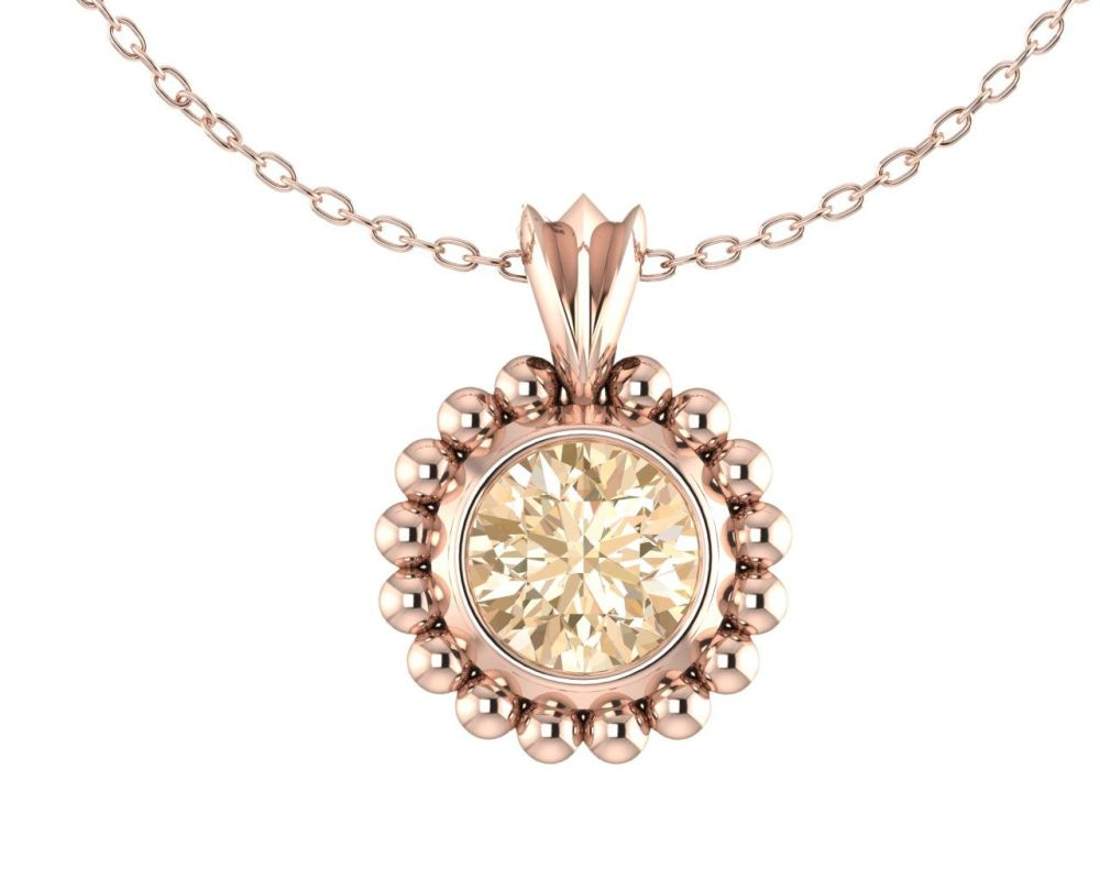 Majestic Rose Gold and Chocolate Diamond Pendant