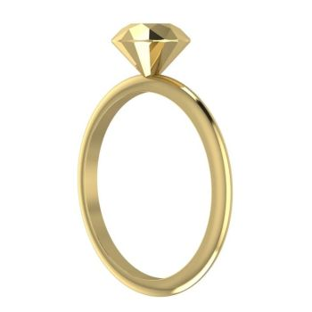 Viva - Gold Diamond Rock Ring