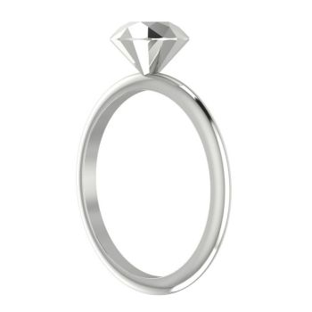 Viva - Silver Diamond Rock Ring