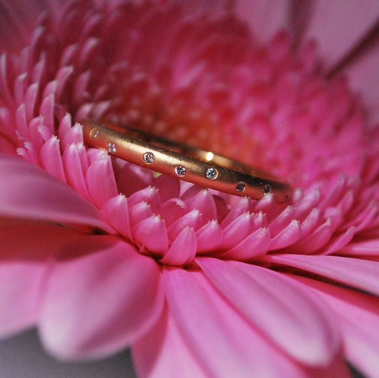Rose Gold Diamond Stack Eternity Ring