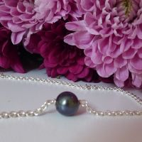Floating Black Pearl Bracelet
