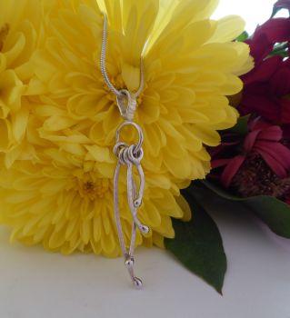 Unique silver textured pendant