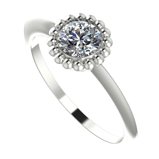 Majestic white gold and diamond engagement ring