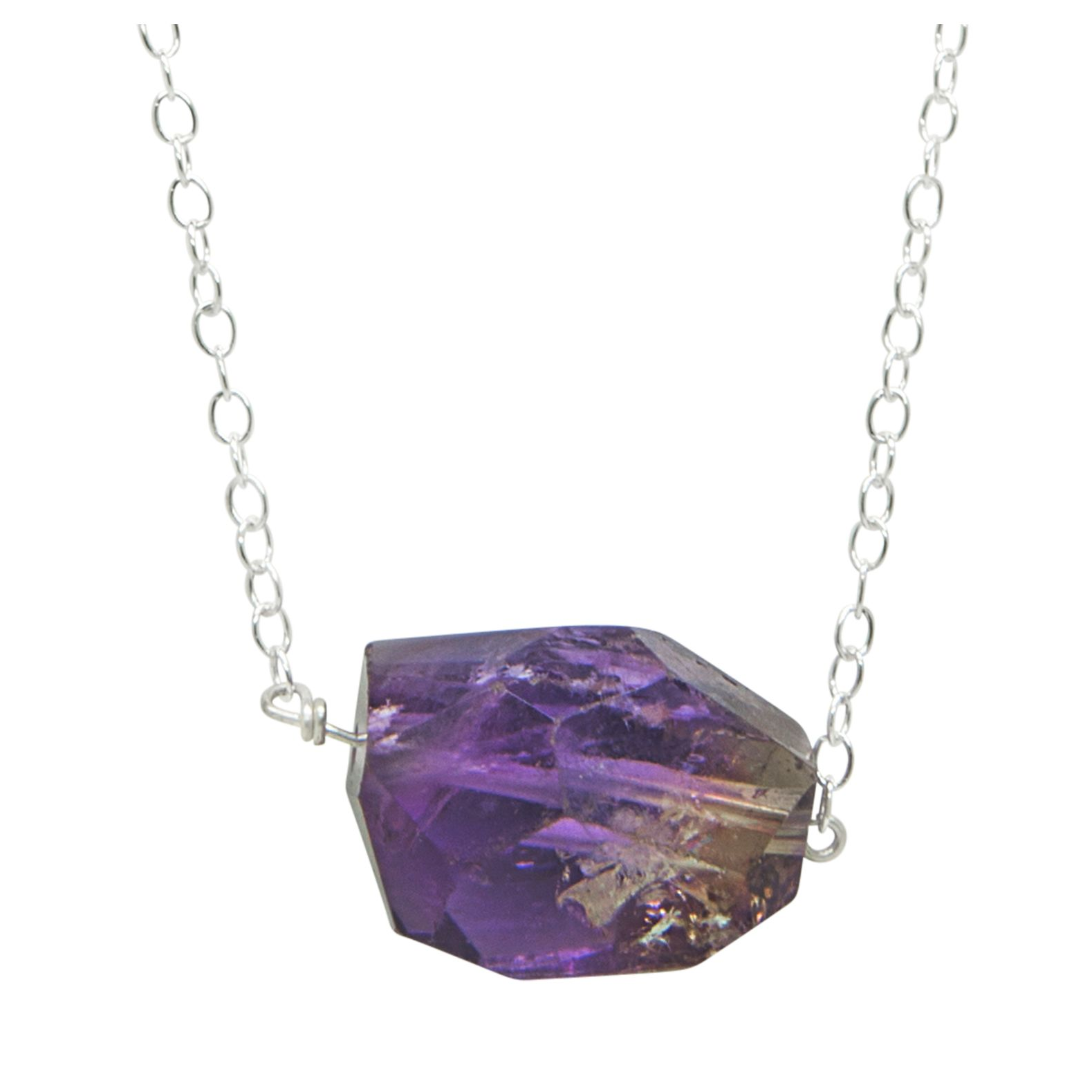 Amethyst rock necklace