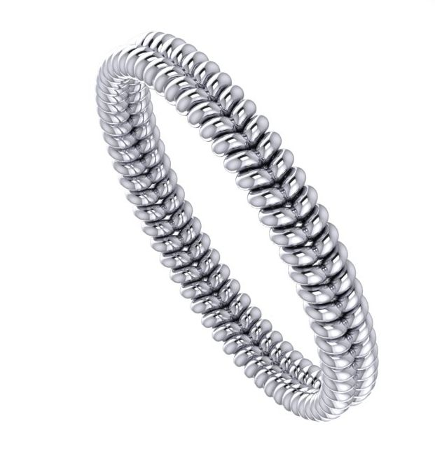 Unique twist platinum wedding rings 1a