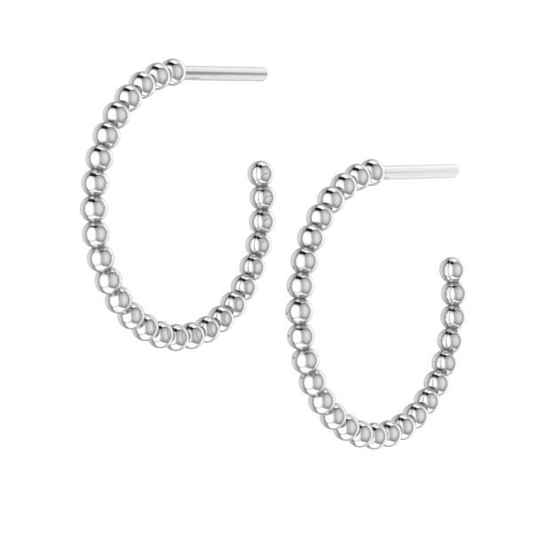 Little Bubbles Silver Hoops