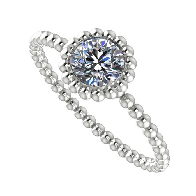 Alto, white gold and diamond ring