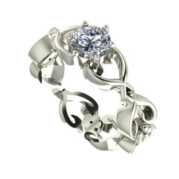 Flowers on the Vine: White Gold & Diamond