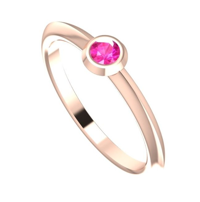 Lucy, Pink Sapphire and Rose Gold Engagement Ring