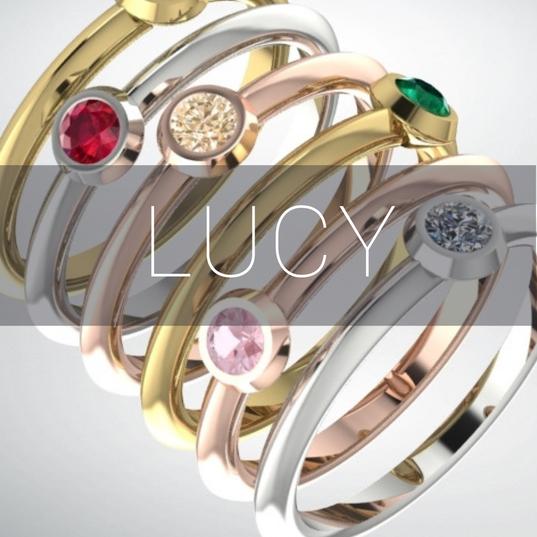 lucy simple minimal gemstone rings