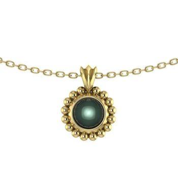 Alto Pearl - Black Pearl Yellow Gold Pendant