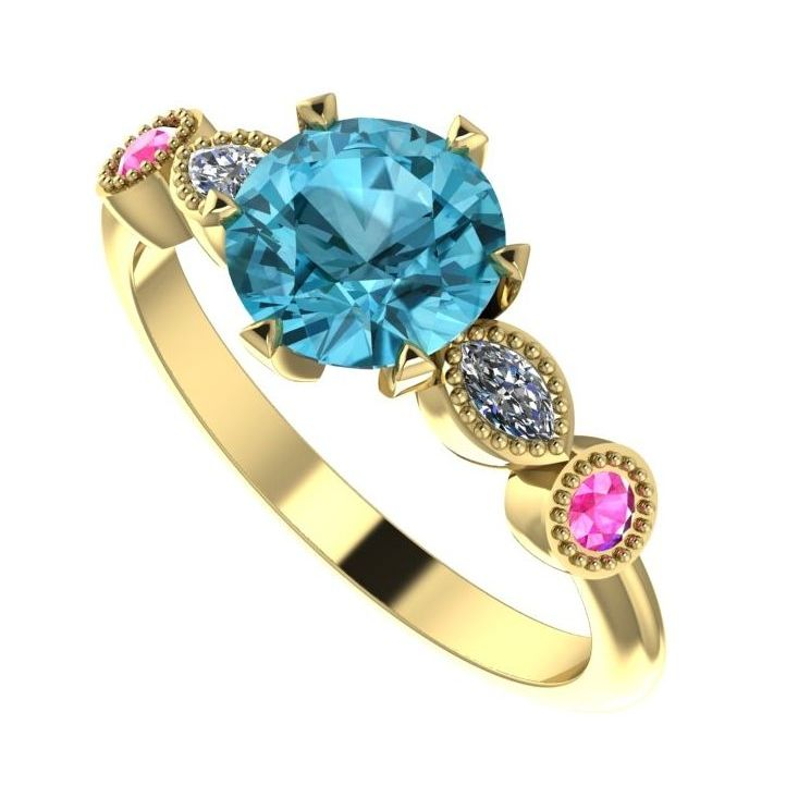Super Luxe, unusual gemstone sngagement ring