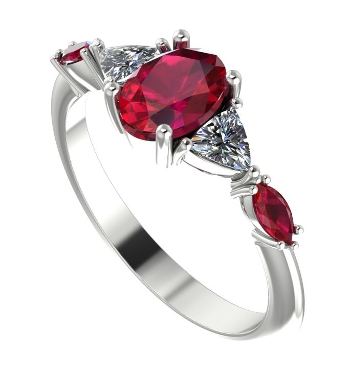 shop rings, maisie ruby and diamond ring