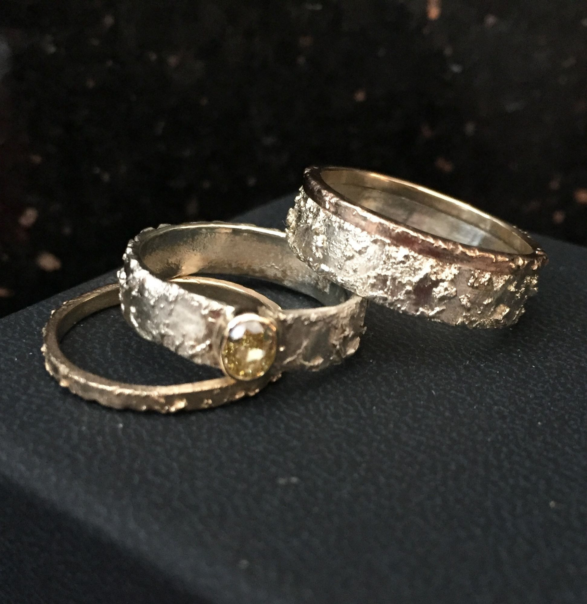 Carolyn engagement and wedding ring set