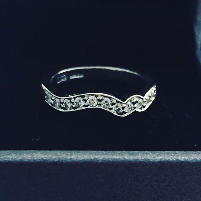 Bespoke wedding band - diamond set