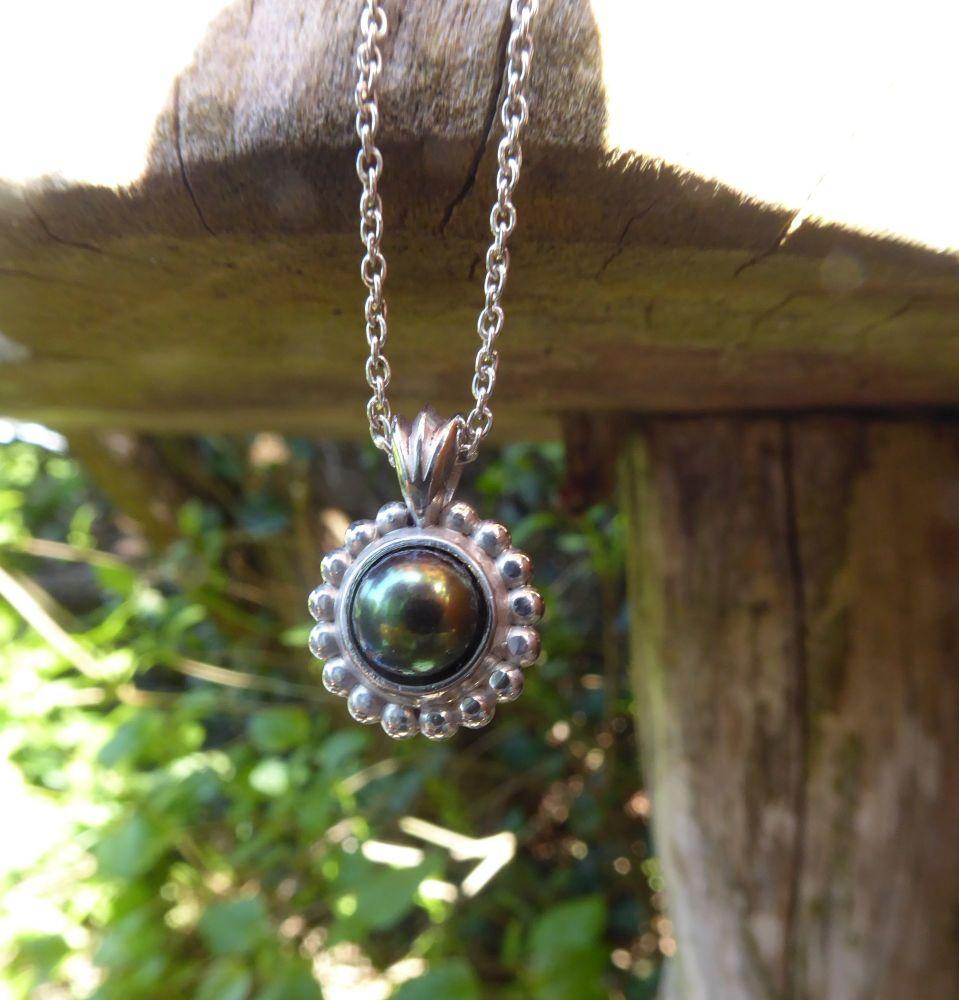 Alto Pearl - Black Pearl Pendant