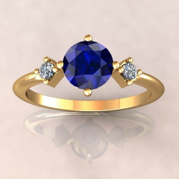 Bespoke sapphire and diamond Carolyn ring