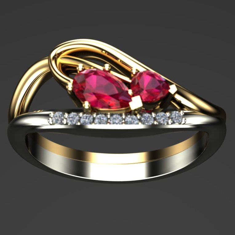Adeline ruby and diamond ring