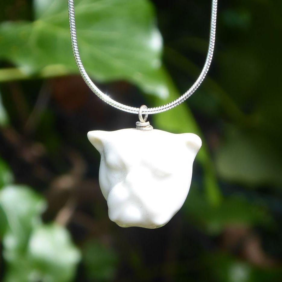 Porcelain Bulldog Pendant