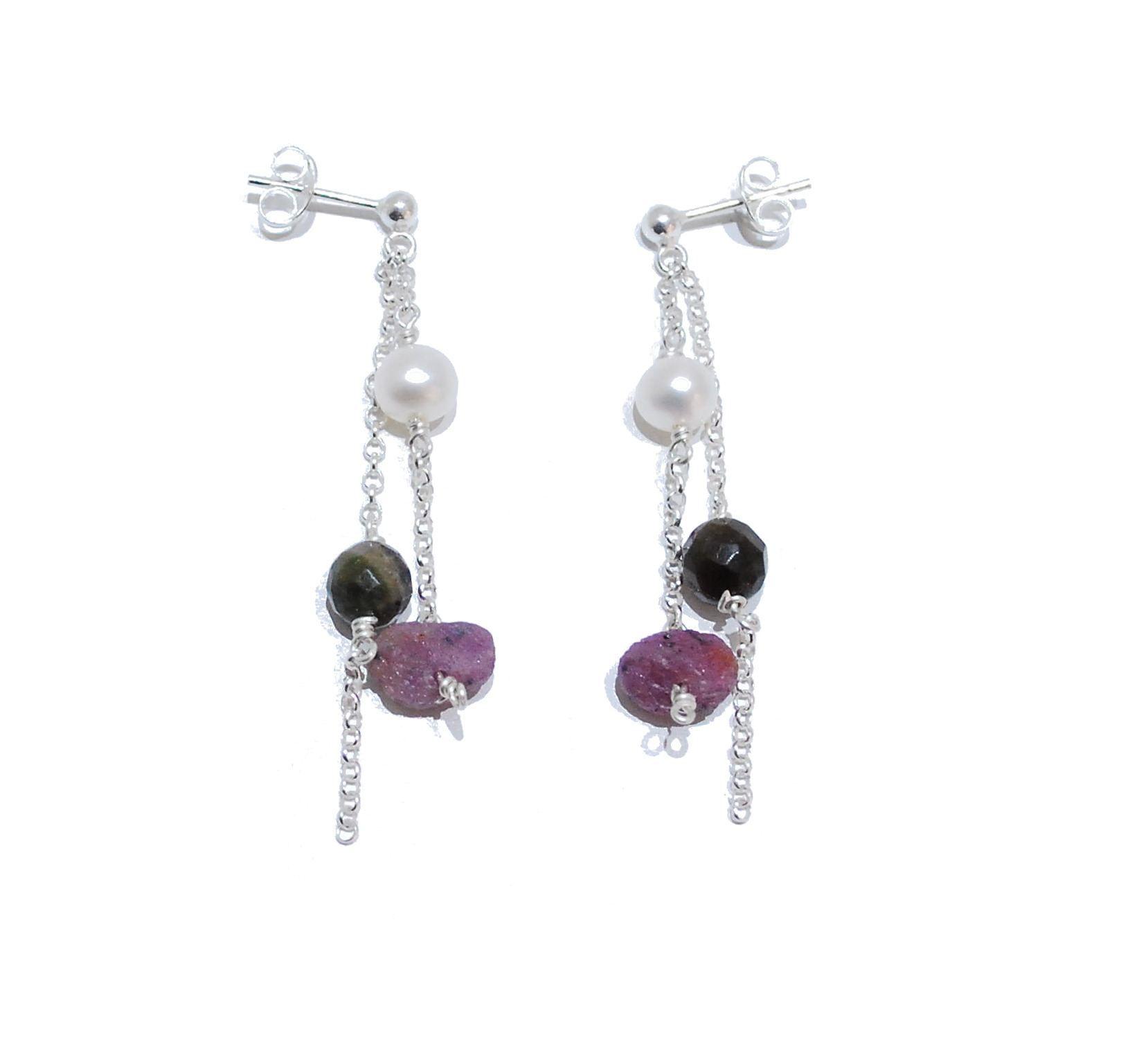 ruby rocks earrings