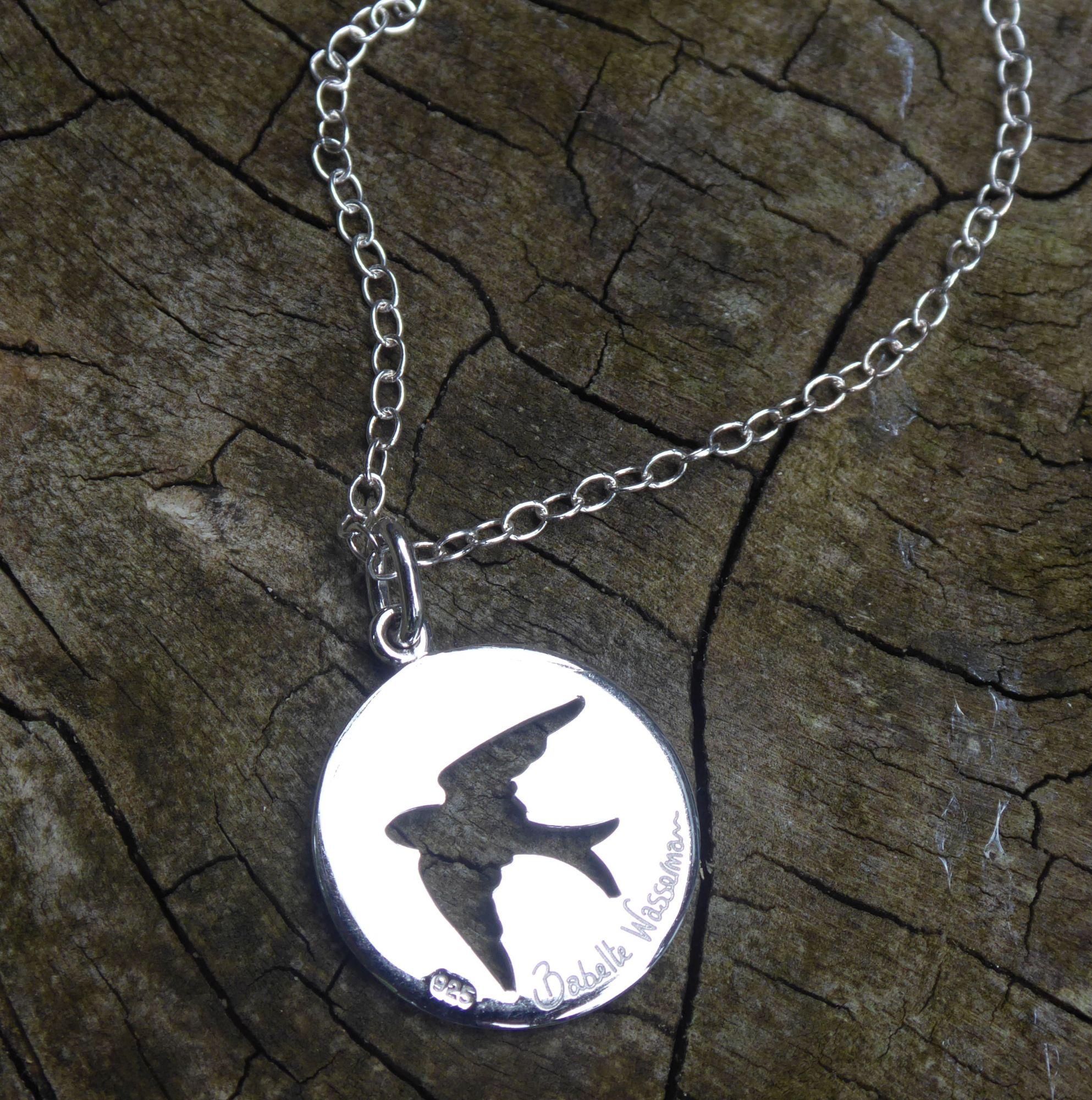 Silver swallow pendant