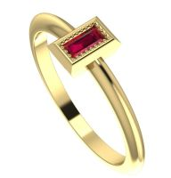 Starflower: Ruby and yellow gold