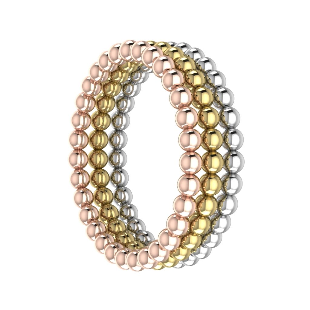 beaded stacking rings