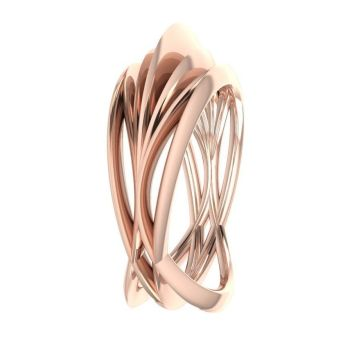 Infinity Armour Ring - 18 Carat Rose Gold