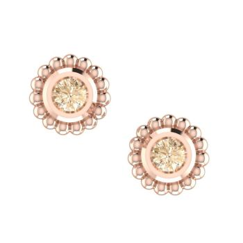 Rose Gold & Chocolate Diamond Mini Alto Earrings