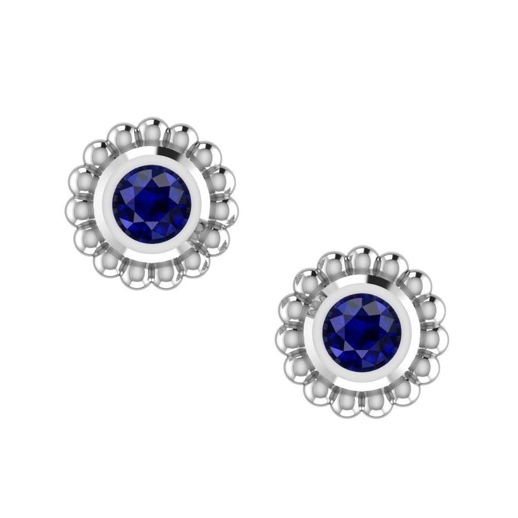 Blue Sapphire Mini Alto Earrings