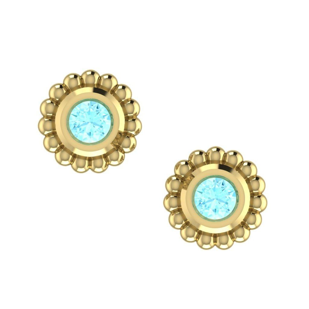Aquamarine Mini Alto Earrings