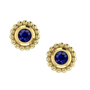 Sapphire & Yellow Gold Mini Alto Earrings
