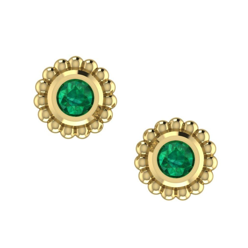 Emerald Mini Alto Earrings