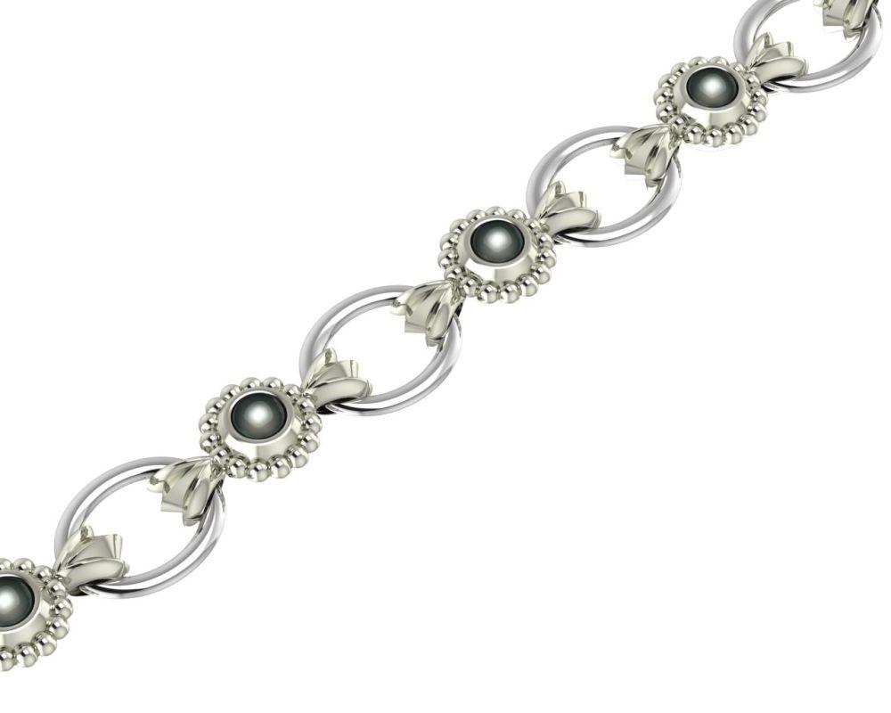 Alto White Pearl Bracelet