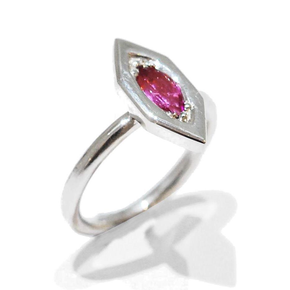flamingo gemstone ring