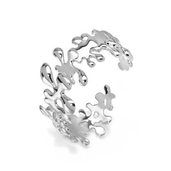Silver Splat Cuff