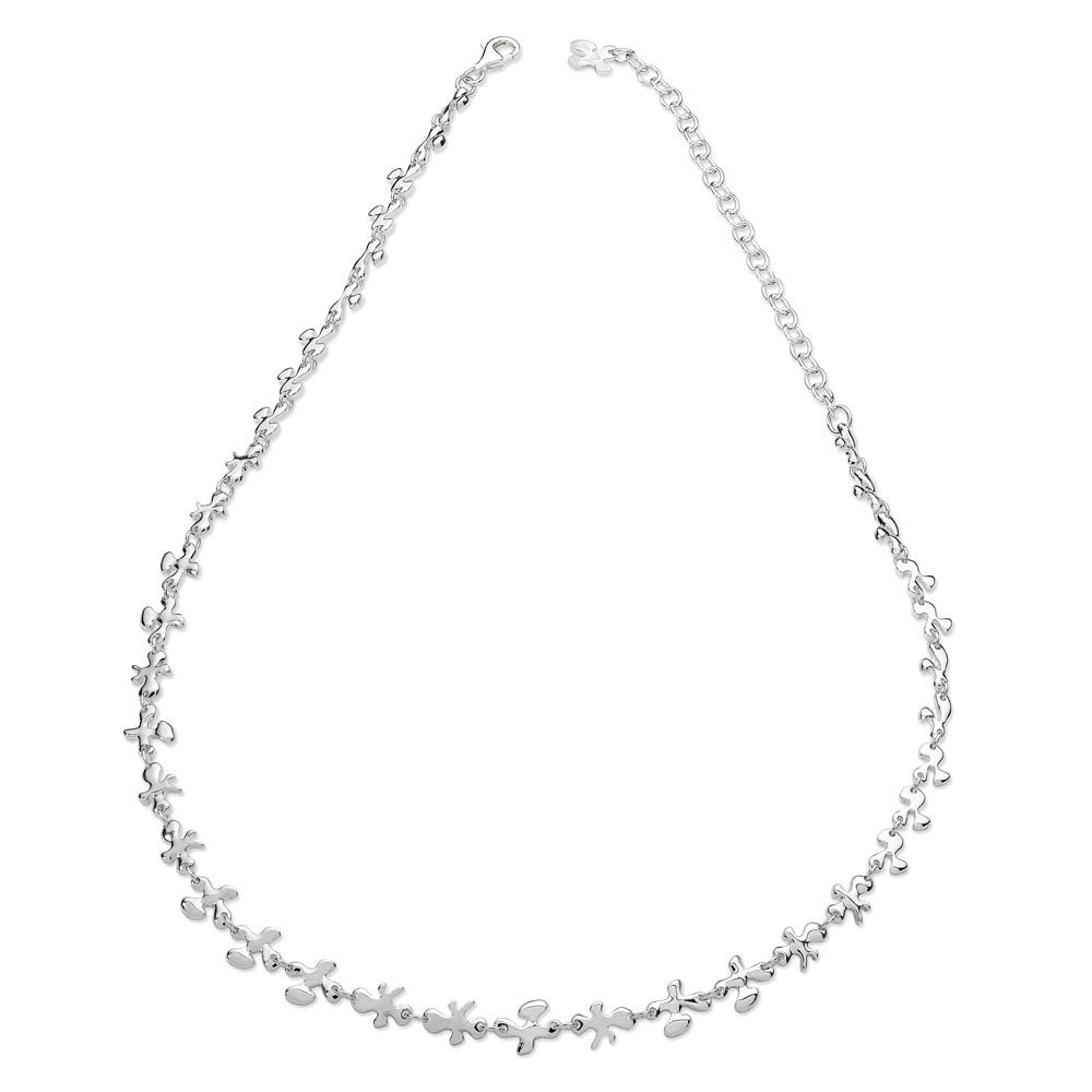 Fine Silver Splat Necklace