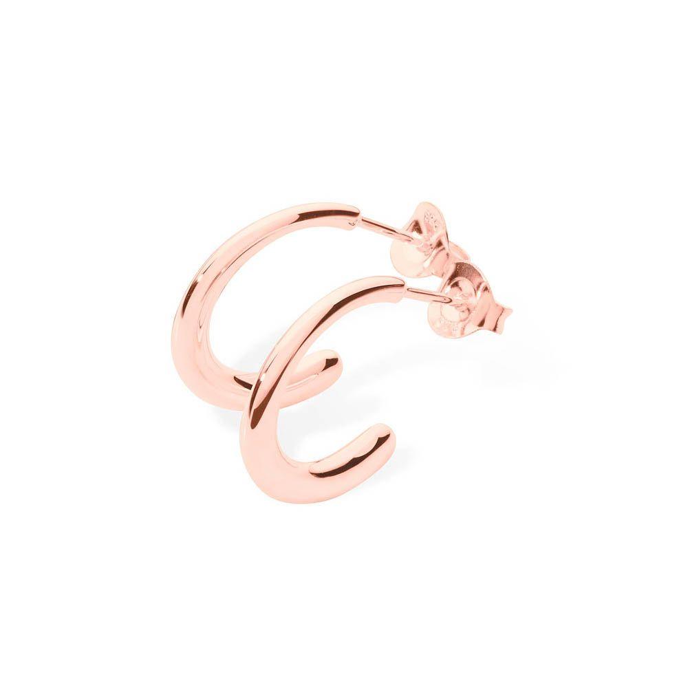 Rose Gold Mini Drop Hoops