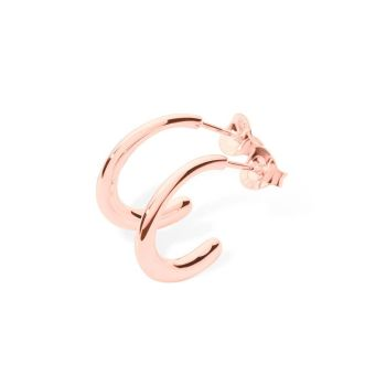 Rose Gold Mini Drop Hoops