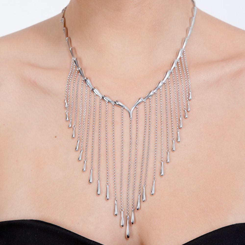 Silver Falling Necklace