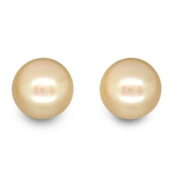 Cultured Freshwater Ivory Pearl Studs Earrings 9-10mm