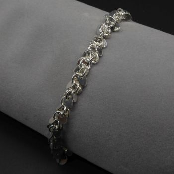 Silver Shimmer Tassel Ankle Bracelet
