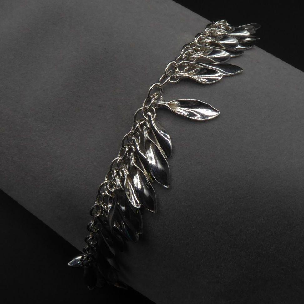 Shimmer Tassel Leaf Bracelet