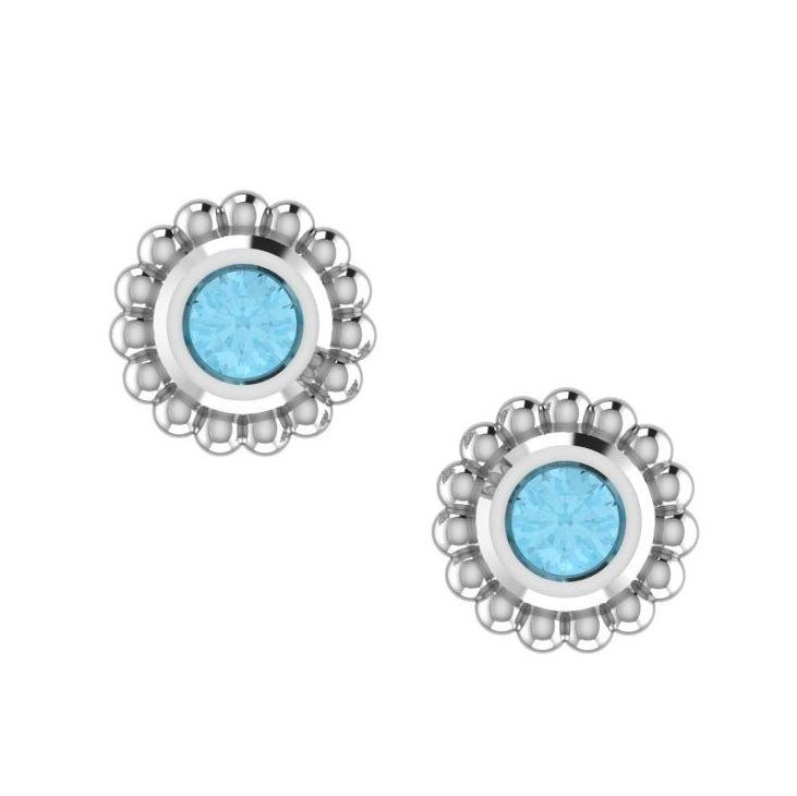 Sky Blue Topaz & Silver Mini Alto Earrings