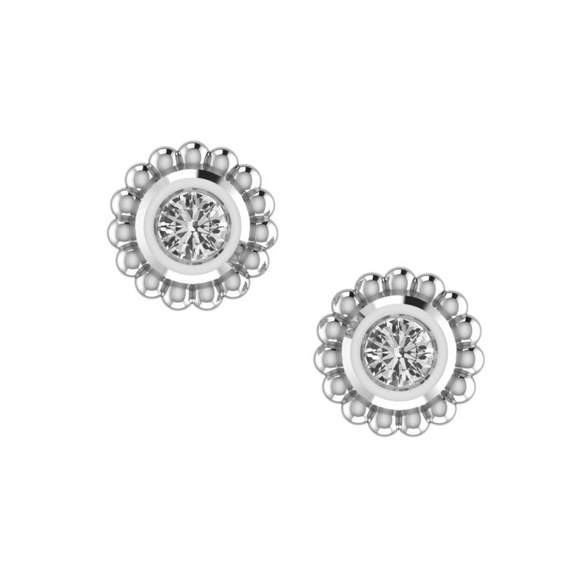 White Topaz & Silver Mini Alto Earrings
