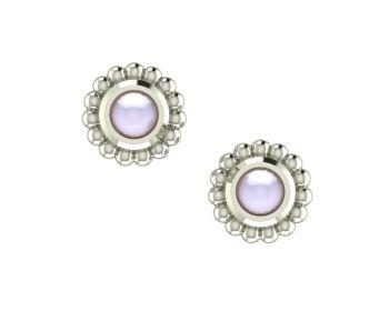 Ivory Pearl & Silver Mini Alto Earrings