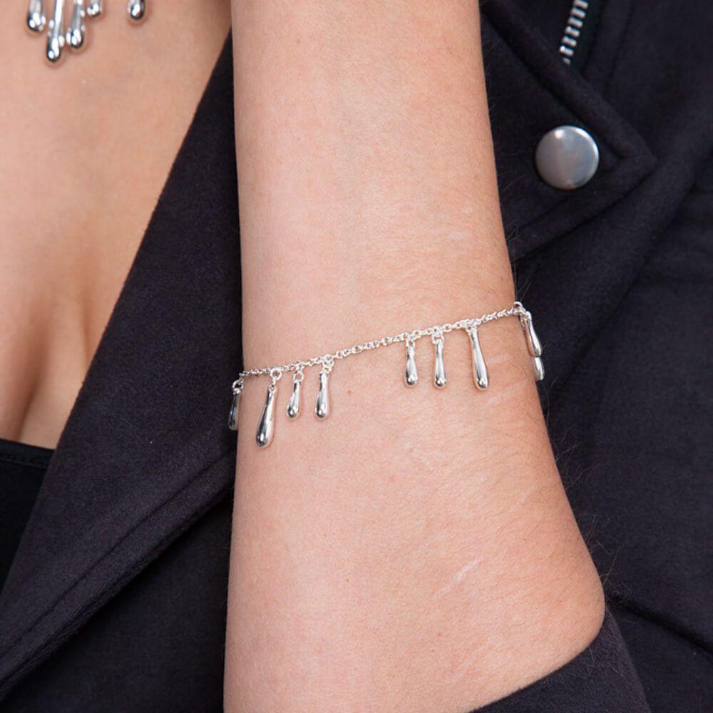 cluster droplet bracelet