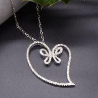 Diamond Butterfly Heart Pendant