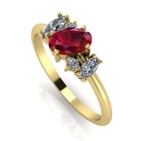 Atlantis Ruby & Diamond: Yellow Gold