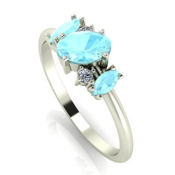Atlantis: Aquamarine & Diamonds